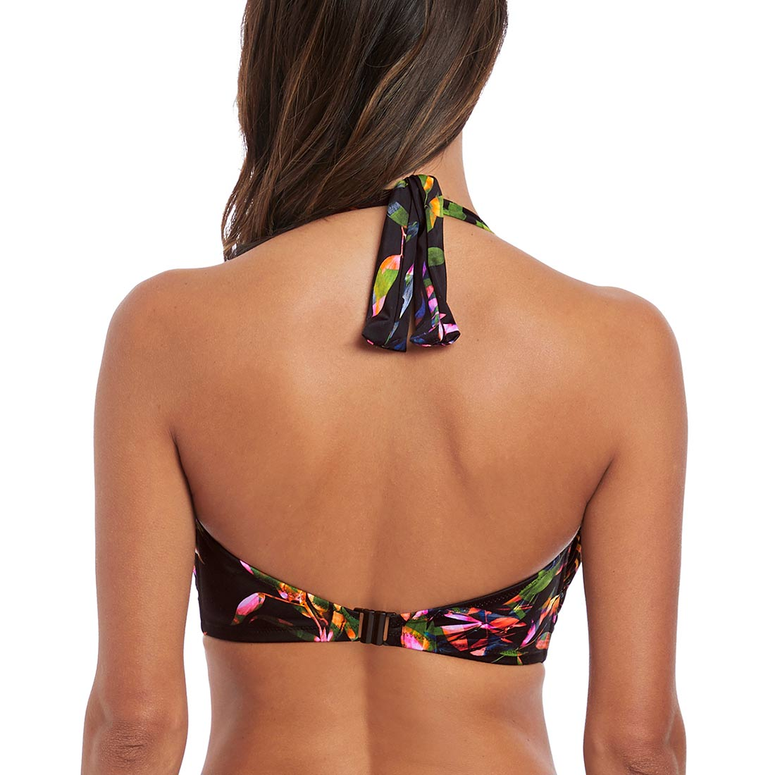 16, Black Fantasie Swim Palawan Mid Rise Bikini Briefs
